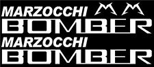 MTB Marzocchi Bomber Fork Decals/Stickers (Gloss White)