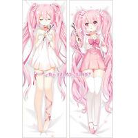 Vocaloid Dakimakura Hatsune Miku Sakura Anime Hugging Body Pillow Case Cover
