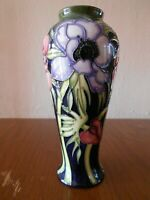 "Moorcroft 122/8 Vase - Anemone Tribute - Emma Bossons - 8.25"" tall"