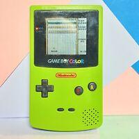 Nintendo Game Boy Colour Lime & Teal Custom, Used Working Order + Alleyway Game