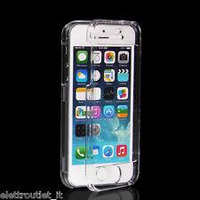 COVER CUSTODIA FRONTE RETRO TPU TRASPARENTE PROTEZIONE 360° Per iPhone 5 5S SE
