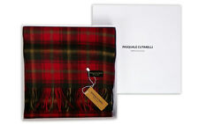 Maple Red Tartan Scarf - Mens Womens 100% Pure Wool Gift Box (MAP-W)