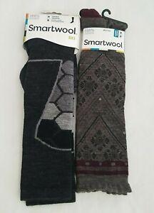 (2) Pair New Smartwool Ski Merino Wool Socks Unisex Womens M
