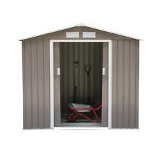 Garden Shed Storage Unit Cabinet w/ Locking Door Floor Foundation Air Vents Grey