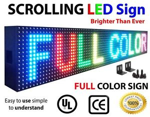 """OUTDOOR *WIFI Programmable 8""""x40"""" MULTICOLOR LED Scrolling Sign Display Message"""