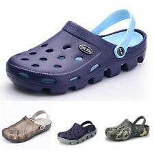 Clogs Men Beach Slippers Summer Rubber Sandals Hole Shoes Mules Flip Flops Pantu