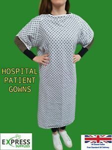 HOSPITAL GOWNS Patient Dignity Gown PPE *PICK YOUR PACK SIZE*