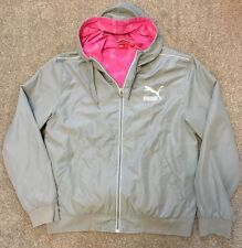 WOMENS PUMA RETRO STYLED HOODED JACKET TRACHK TOP L LARGE 14 16 COST £80