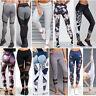 Donna Yoga Pantaloni Abbigliamento Sportivo Aderente leggings palestra fitness