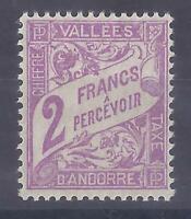Colonies françaises - Andorre - taxe n° 19**