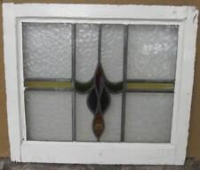"""MID SIZED OLD ENGLISH LEADED STAINED GLASS WINDOW Streaky Abstract 23.75"""" x 21"""""""