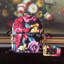 NWT Vera Bradley SMALL Leighton Backpack Zip ID Case SET Havana Rose G01 BE