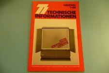 Grundig informazioni tecniche fascicolo 1.1985 così funziona un video recorder