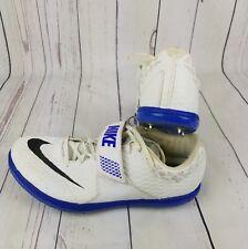 Nike SIZE 15 Mens HJ High Jump Elite White Track Spikes 806561-100 w/ Needle Spi