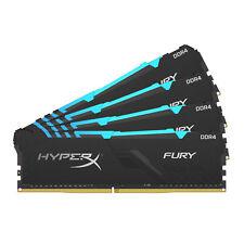 64GB Kingston HyperX Fury RGB DDR4 3000MH PC4-24000 CL15 Quad Memory Kit 4x16GB