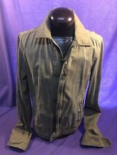 Mens ABERCROMBIE & FITCH WAKELY L LARGE VINTAGE JACKET Khaki Tan EUC