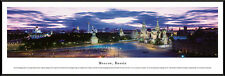 Moscow Russia City Skyline St. Basil's Cathedral Framed Poster Picture I