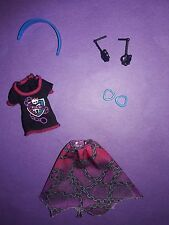 Monster High Doll Clothes Ghoul Spirit Spectra Outfit Shirt Skirt Headband +
