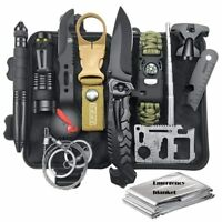 Survival Kit 12 in 1 Fishing Hunting SOS,EDC Survival Gear Emergency Camping Hik
