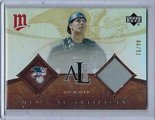2005 Artifacts AL/NL Artifacts Rainbow JOE MAUER Game Jersey #75/99  (5376)