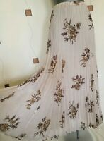 SKIRT 12 14 40 42 MEDIUM M LONG MAXI PLEATED CRINKLE FLORAL TEA OCCASION M&S NEW