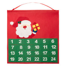 2pc Santa Claus Father Christmas Advent Calendar Pocket Countdown Xmas Novelty