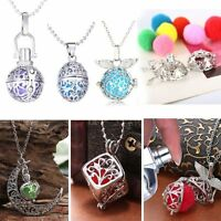 2020 Hot Locket Perfume Aromatherapy Oil Diffuser Pendant Necklace +6PCS Cottons
