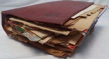 1940's-50's Big Scrap Book,Photos,Postcards,Tickets,Programs,Playbill, Lot