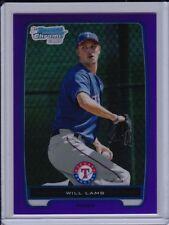 Will Lamb 2012 Bowman Chrome Purple Refractor #'d /199 Texas Rangers