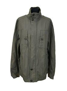 BURTON Jacket Size M Green Raincoat Cotton Outdoor Casual Everyday Weekend