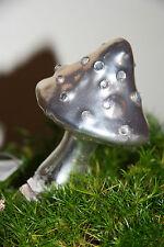 * 2er Set Pilz zum Clippen Glas  Champgner Glitzer Weihnachten Herbst Dekoration