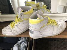 Nike Air Jordan 1 Retro High OG First Class Flight White Yellow UK 8