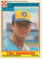 Ted Simmons 1984 Topps Ralston Purina #3 Milwaukee Brewers baseball card