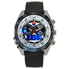 Analog-Digital Watch Men's Fashion Casual Binary Men LED Sports Watch W-6