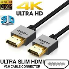 High Speed Gold Plated PREMIUM HDMI Cable v2.0 HD Vidio 4K 2160p 3D Cord 1M
