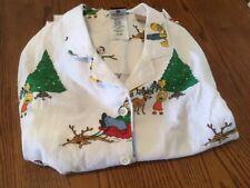 POTTERY BARN TEEN FLANNEL SIMPSONS CHRISTMAS HOLIDAY PAJAMA SET NEW size small