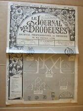 LE JOURNAL DES BRODEUSES N° 433 - 15 septembre 1935. PROFESSIONNEL DE  BRODERIE