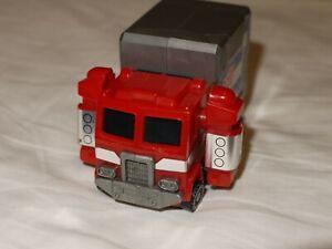 1986 Takara Transformers Optimus Prime Stamp Bot G1 Super Rare Rubber Present