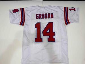 Steve Grogan Jersey Custom Unsigned Stitched White New England Jersey Size XL