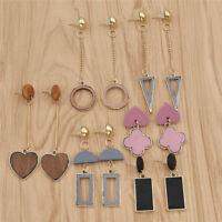 24 Styles Women Rectangle Heart Earrings Hollow Ear Stud Drop Dangle Long Tassel