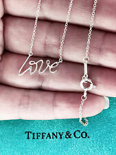 Tiffany & Co Paloma Picasso graffiti d'amore collana con pendente in Argento Sterling