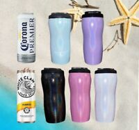 Insulated 12oz Slim Stainless Steel Can Cooler Thermos White Claw Truly
