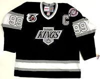 WAYNE GRETZKY LOS ANGELES KINGS 1991 NHL 75TH CCM VINTAGE BLACK JERSEY NEW