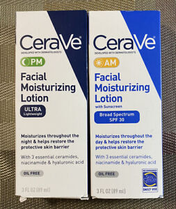 (2 Pack) Cerave Moisturizing Facial Lotion Am/PM SPF 30 - 3 Oz  (2 Pack)