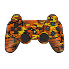 Sony PS3 Controller Skin - Orange Camo - DecalGirl Decal
