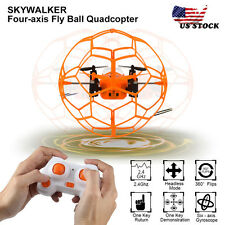 Mini Drone 2.4GHz 4CH Fly Ball LED light RC Quadcopter 3D Flip Roller Toy Gift