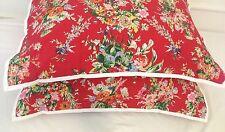 "NEW~ Ralph Lauren ""Belle Harbor"" Euro Shams ~ Cottage~ Vibrant Floral~"