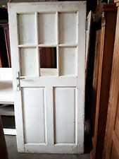 antik Türe mit 6er  Sprossenfenster alte Tür Holztüre shbby chic