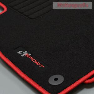Mattenprofis Velours Logo Fußmatten für Seat Leon I 1M ab Bj.1999 - 2005 rot