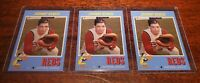 (3) LOT JOHNNY BENCH SP 2019 TOPPS #TBT #30 '71 FOOTBALL PRINT RUN ONLY /674!